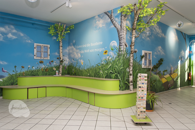 wandmalerei im haus natur und umwelt frameless studio. Black Bedroom Furniture Sets. Home Design Ideas