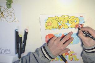 Graffiti Sketching Video   RIOT1394
