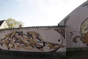 """Graffiti Fassadengestaltung """"Art Nouveau"""""""