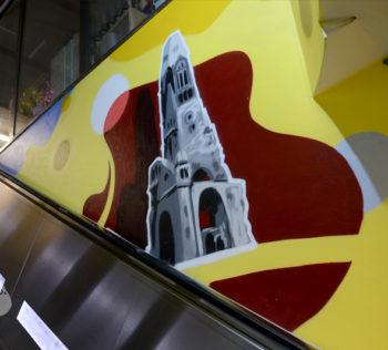 Wandgestaltung Berlin, Frameless-studio, Graffitiauftrag, Innenremaugestaltung, wandmalerei, Graffitikunst, Deutschebahn, Graffitikünstler, Bürogestaltung, Airbrush,
