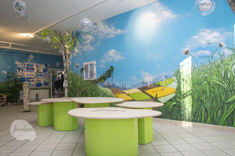 Frameless-studio Fassadengestaltung, Haus Natur und Umwelt, Wandgestaltung, Frameless, Graffiti, Graffitiauftrag, Kreativagentur, Berlin