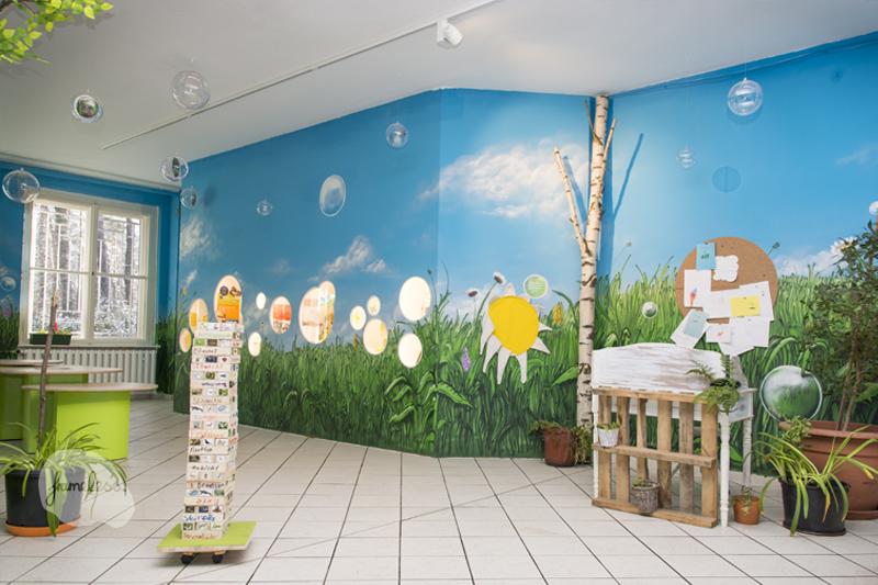 Frameless-studio Fassadengestaltung, Wandgestaltung, Frameless,  Haus Natur und Umwelt, Graffiti, Graffitiauftrag, Kreativagentur, Berlin