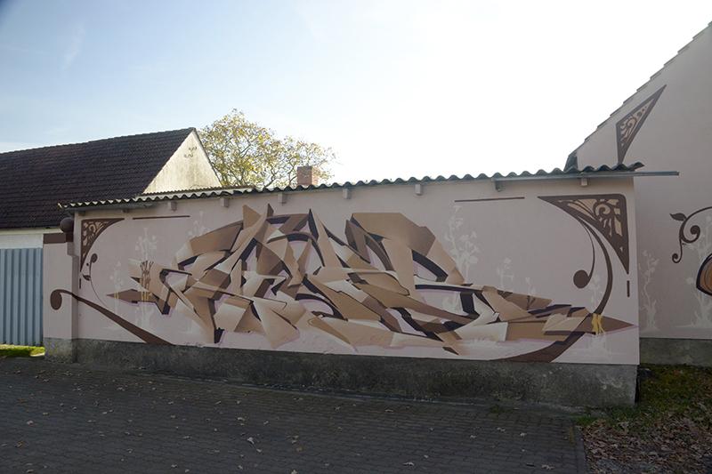 artnouveau_graff, Graffiti Fassadengestaltung, Graffitikünstler, Skenar73, StereoHeat, Frameless-studio, Frameless studio