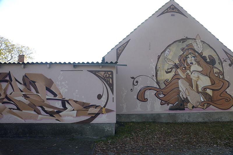 artnouveau_graff_4, Graffiti Fassadengestaltung, Graffitikünstler, Skenar73, StereoHeat, Frameless-studio, Frameless studio