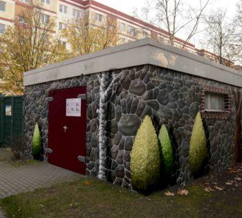 Illusionsmalerei, Graffitikünstler, Berlin, Fassadenmalerei, Wandmalerei, Fassadengestaltung, Wandgestaltung, Frameless-studio, Graffitiauftrag