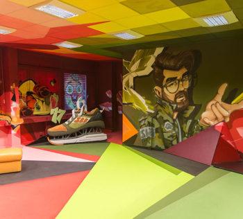 The Haus, Berlin Art Bang, Frameless, Graffitikünstler, Innenraumgestaltung, Kunst, THE HAUS, Skenar73, Raws, Dejoe, StereoHeat, Wandgestaltung
