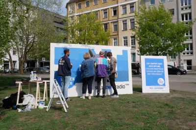 Aktivierung Kampagne, Werbung, PR Stunt, Activation production, guerilla aktion, RBB, Inforadio, Advertising, Out of home, OOH,