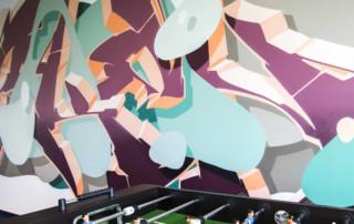 Innenraumgestaltung, Berlin, Büro, Bürogestaltung, Webhelp, Frameless studio, Graffitikünstler, Skenar73, Graffitiart