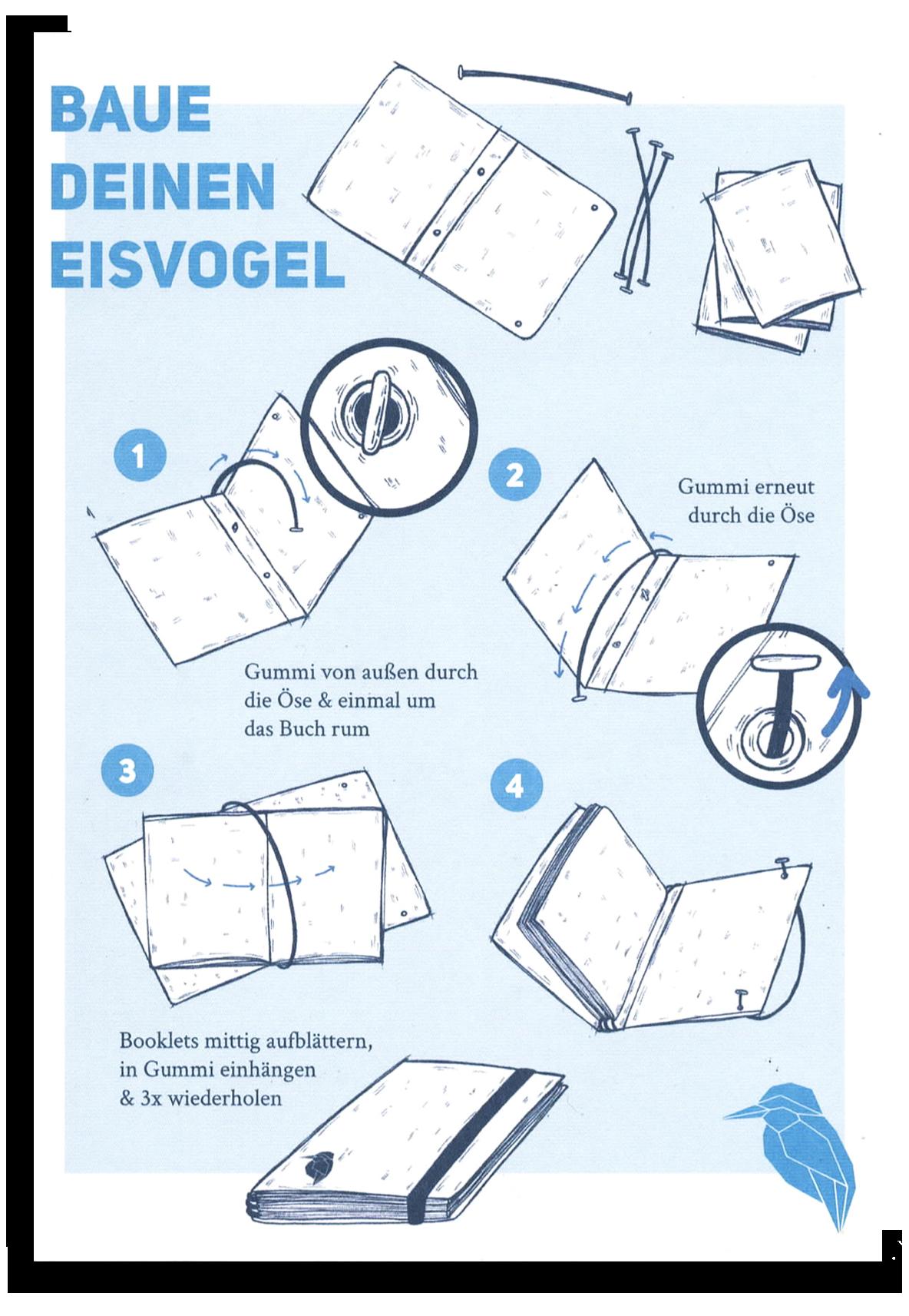 Eisvogel-Notes, Notizbuch, made in berlin, Eisvogel media, Kalender, Planer, Skizzenbuch,