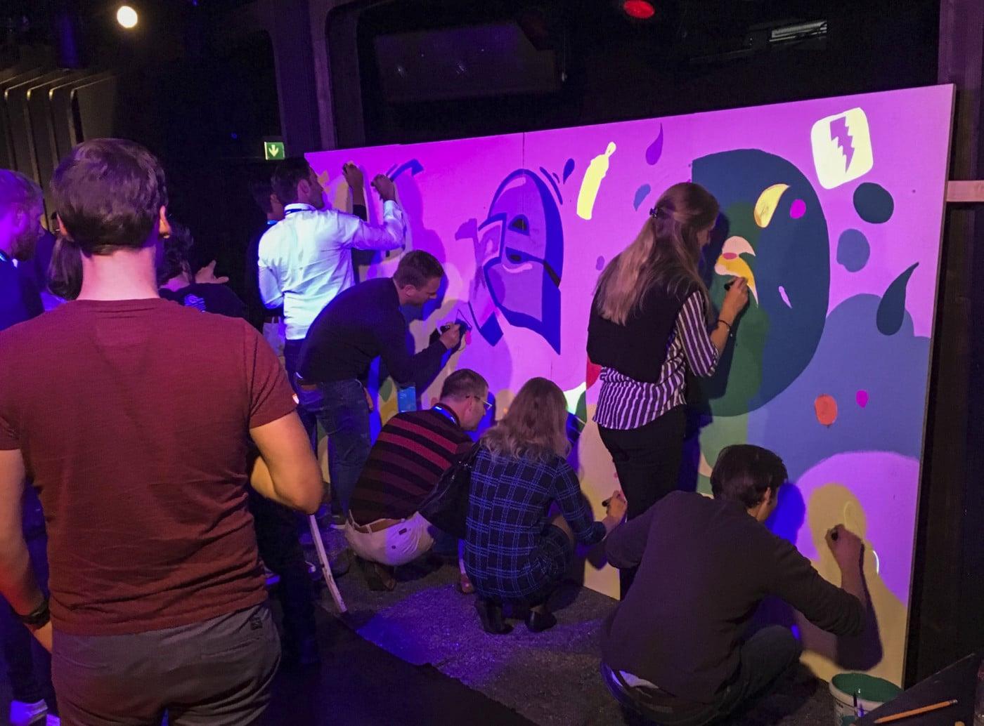 Event Workshop, Graffiti, Teambuilding, Firmenevent, Streetart, Kreativworkshop, Wandmalerei, Berlin